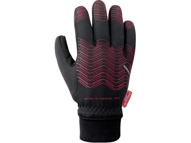 Shimano Windstopper Reflektierende Thermo Handschuhe Herren red